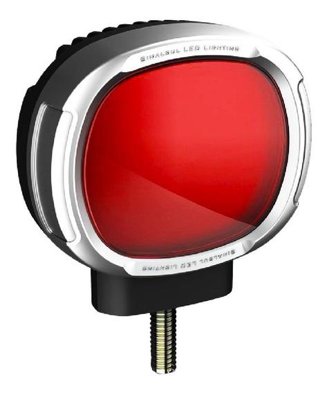 Lanterna Foguinho Maria Led Caminhão Bivolt 12v 24v Vermelha