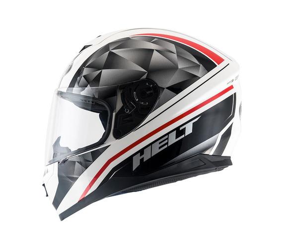 Capacete Helt New Race Carbon Branco/preto 58