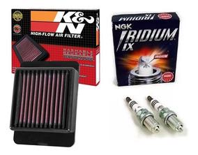 Filtro De Ar K&n E 2 Velas Iridium Mt-03 15-19 Ya3215 Cr8eix