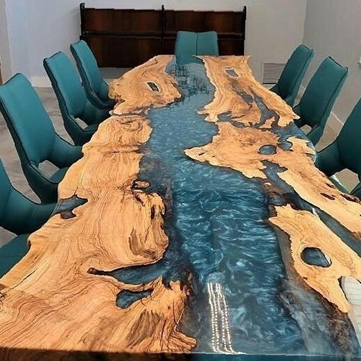 Mesas River Table, Resinadas