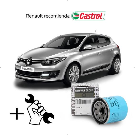 Cambio Filtro + Aceite Castrol 10w40 Renault Megane 2.0 M4r