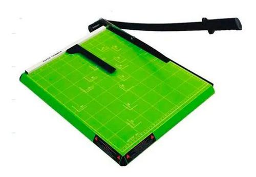 Guilhotina A4 Com Margeador Magnético Verde - 12 Folhas