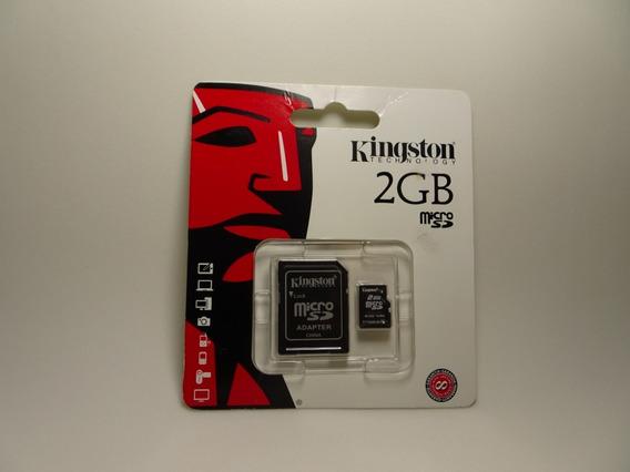 Cartão De Memoria Micro Sd Kingston 2gb Com Adaptador