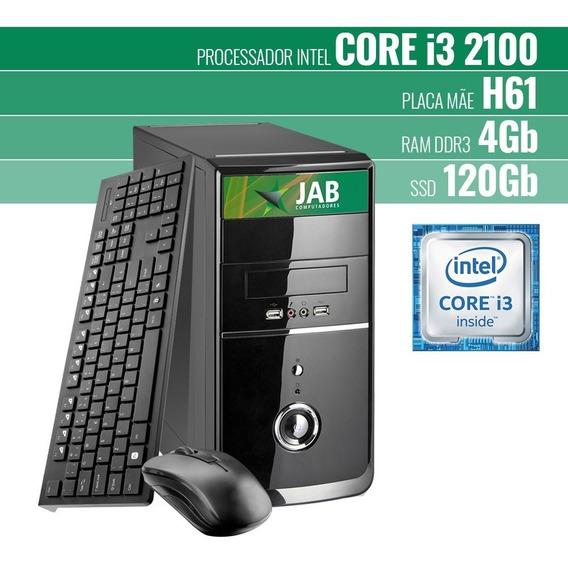 Cpu Jab Core I3, 4gb Ddr3, Ssd120gb, Linux, Teclado E Mouse
