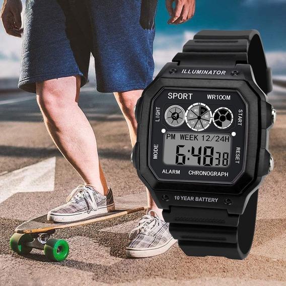 Relógio De Pulso Analógico/digital/led/impermeável/esportivo