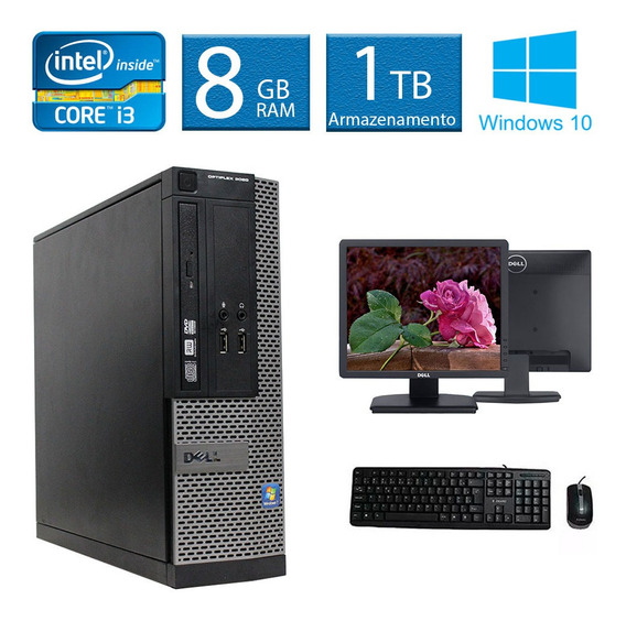 Computador Desktop Dell Optiplex 3020 I3 8gb 1tb Monitor 17