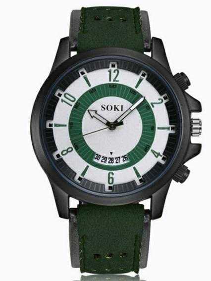 Relógio Soki Masculino Vintage Clássico