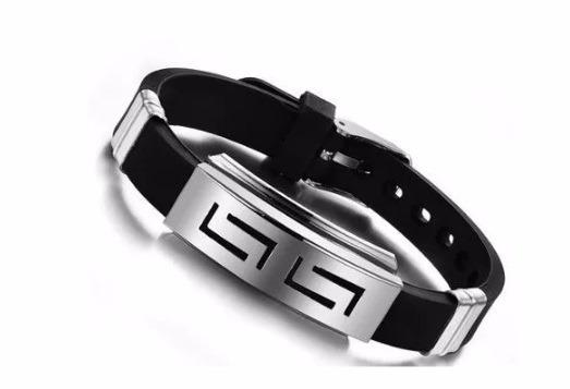 Bracelete Masculino Pulseira Com Aço Inoxidável 316l