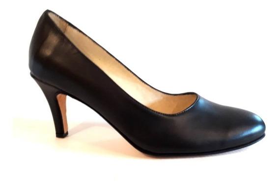 Huma10 Zapatos Taco Lxv Talles Grandes Negro