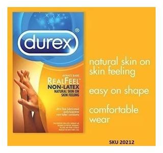 Pack 24 Condones Durex Sin Latex Avanti Bare Real Feel W01