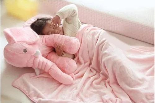 Elefante Para Bebê Menino Elefante + Naninha Bebe Rosa Ursin