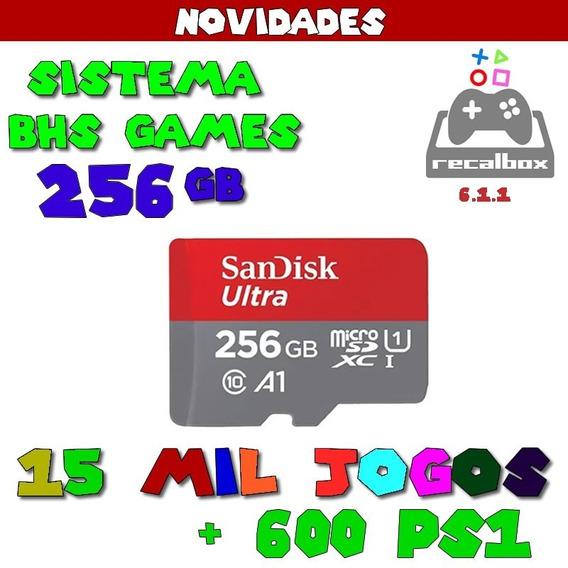 Cartão De Memoria 256 Gb Recalbox 15mil Jogos + 600 Ps1