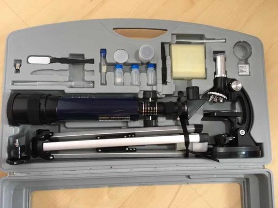 Kit Telescópio E Microscópio