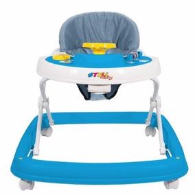 Andador Bebe Infantil Musical Menino Azul 6 Rodas 9900610