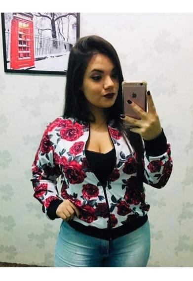 Jaqueta Bomber Blazer Feminino Estampada Moda 2019