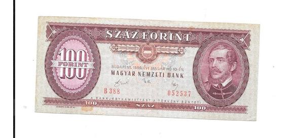 Liquido Billete De Hungría. 100 Florint 1989