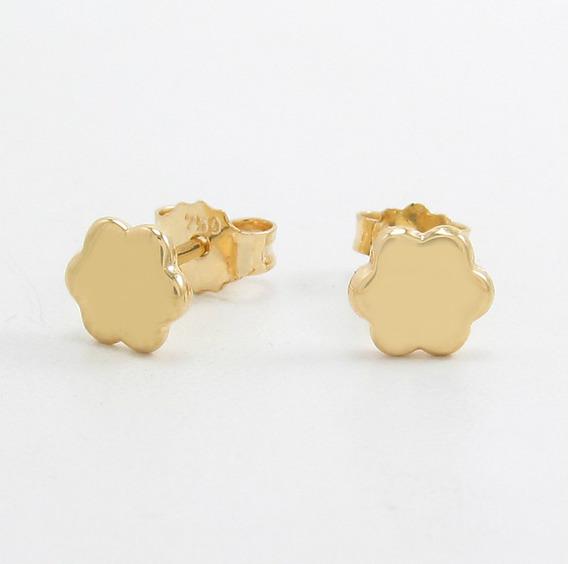Esfinge Jóias - Brinco Design Trevo Em Ouro Amarelo 18k 750.