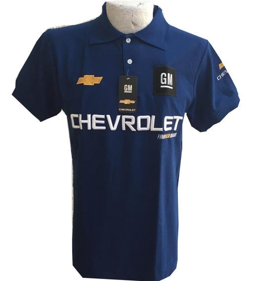 Playera Tipo Polo Chevrolet Azul Rey Envío Gratis