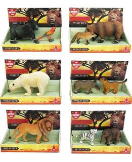 6 Animales De Selva Coleccionable Calidad Replica