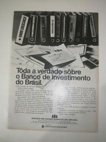 L 290/ Gpkr70 Propaganda Antiga Banco Investimento Brasil