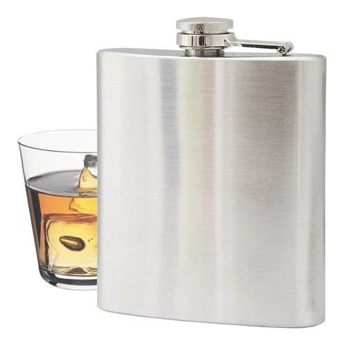 Cantil De Bolso Porta Bebida Aço Inox Whisky Vodka Rum 230ml