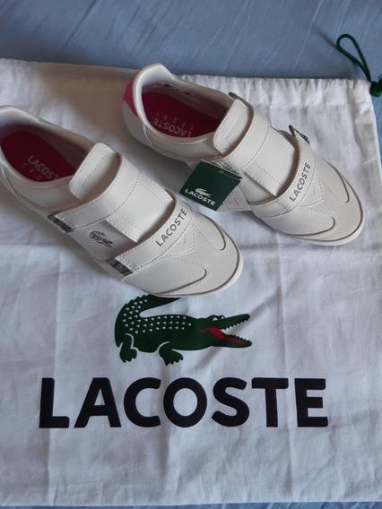 Lacoste Sports Velcro Edição Limitada Novo Na Caixa E Com Saco