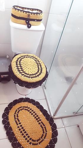 Imagem 1 de 1 de Jogo De Banheiro Em Crochê