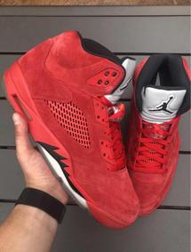 Nike Air Jordan 5 Red Suede
