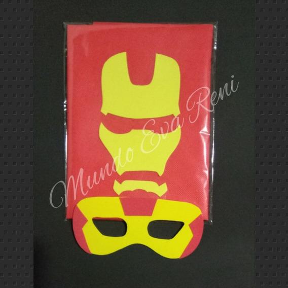 Antifaz Más Capa Iron Man Superhéroe Avengers