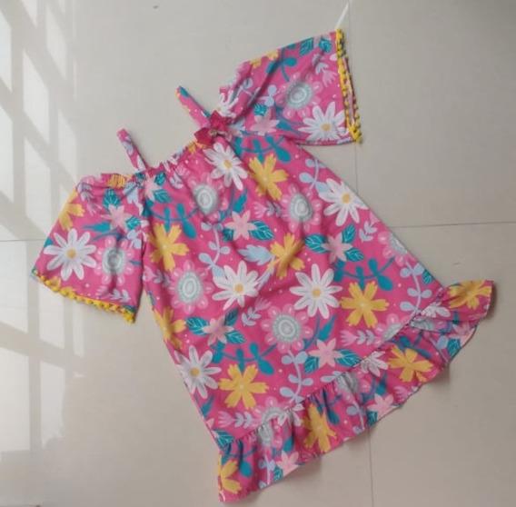 Vestido Estampado Málagah Rosa 14294