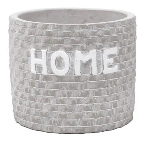 Imagem 1 de 4 de Vaso Concreto Home Bricks Cinza 10,7x10,3x9cm Urban