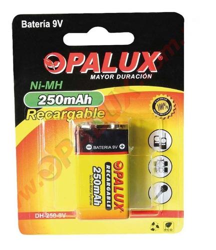 Bateria 9v Recargable Opalux 250mah, Nuevos