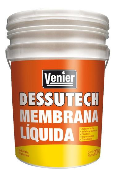Membrana En Pasta Liquida Techos 20 Kg Venier Rex