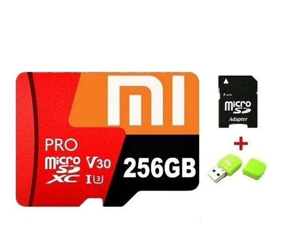 Cartão De Memória 256gb Xiaomi Classe 10 Original + Brinde