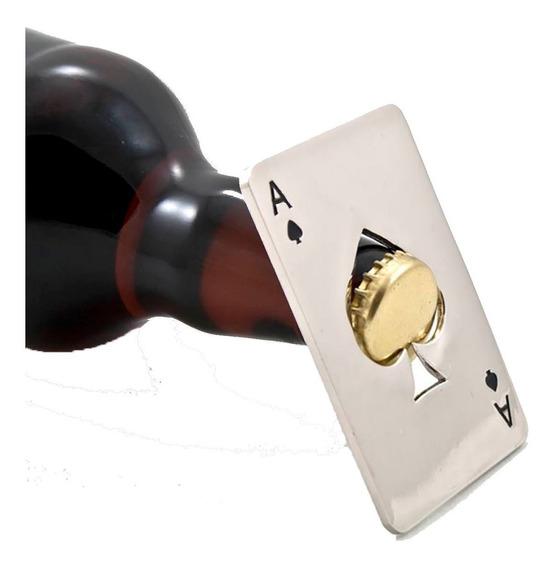 Tarjeta Destapador Botellas Carta Pokar Acero Inoxidable