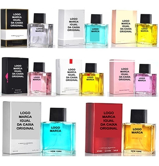 10x Perfume 100ml Qualidade Top- Varejo E Revenda