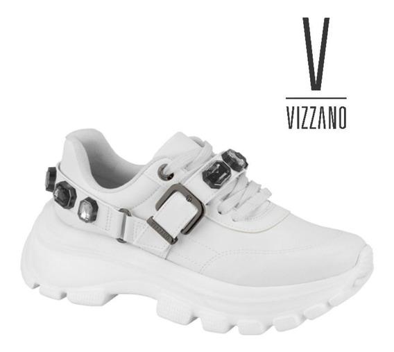 Tênis Feminino Vizzano Sneaker Pedras Branco Pelica 1356.102