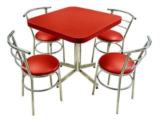 Mesa Juego Con 4 Sillas Para Restaurante Comedor Barato Ch75