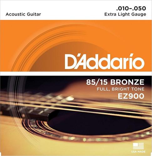 Imagen 1 de 2 de Daddario 85/15 Bronze Ez900 Encordado Para Acústica .010