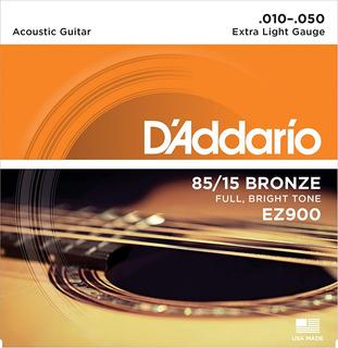 Daddario 85/15 Bronze Ez900 Encordado Para Acústica .010