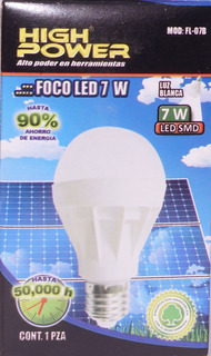 10 Focos Led De 7w High Power