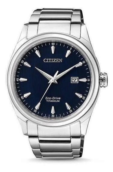 Reloj Citizen Eco Drive Titanium Para Hombre Bm7360-82l Azul
