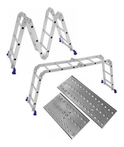 Escada 12 Degraus 4x3 C/ Plataformas Da Mor 3,35m Altura