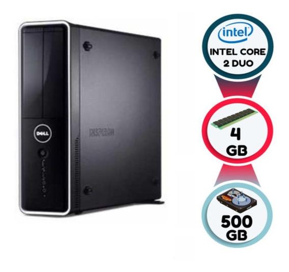 Desktop Dell Inspiron 560s Core 2 Duo 4gb Ddr3 Hd 500 Sata