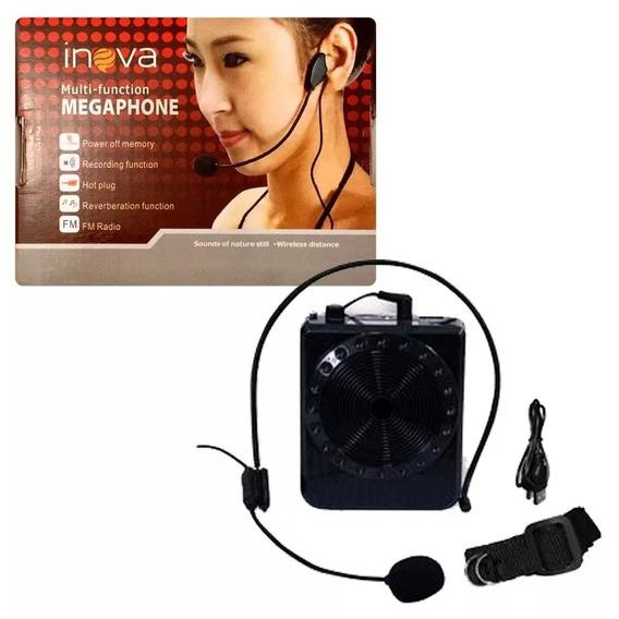 Rádio Megaphone Speaker Multifunções K150 Com Rádio Fm