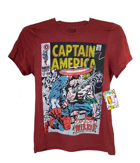 Playera Marvel Capitan America Comics Original
