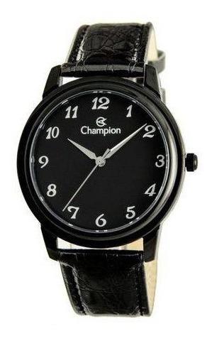 Relógio Masculino Social Champion Cn20659n Puls De Couro