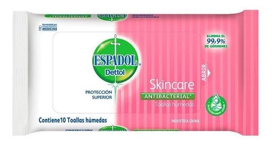 Espadol Dettol Toallas Húmedas Antibacteriales Skincare