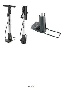 Inflador De Pie C/ Manómetro Plegable De Aluminio 140psi - Ciclos