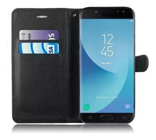Funda Para Samsung Flip Eco Cuero + Templado Seleciona Su Modelo